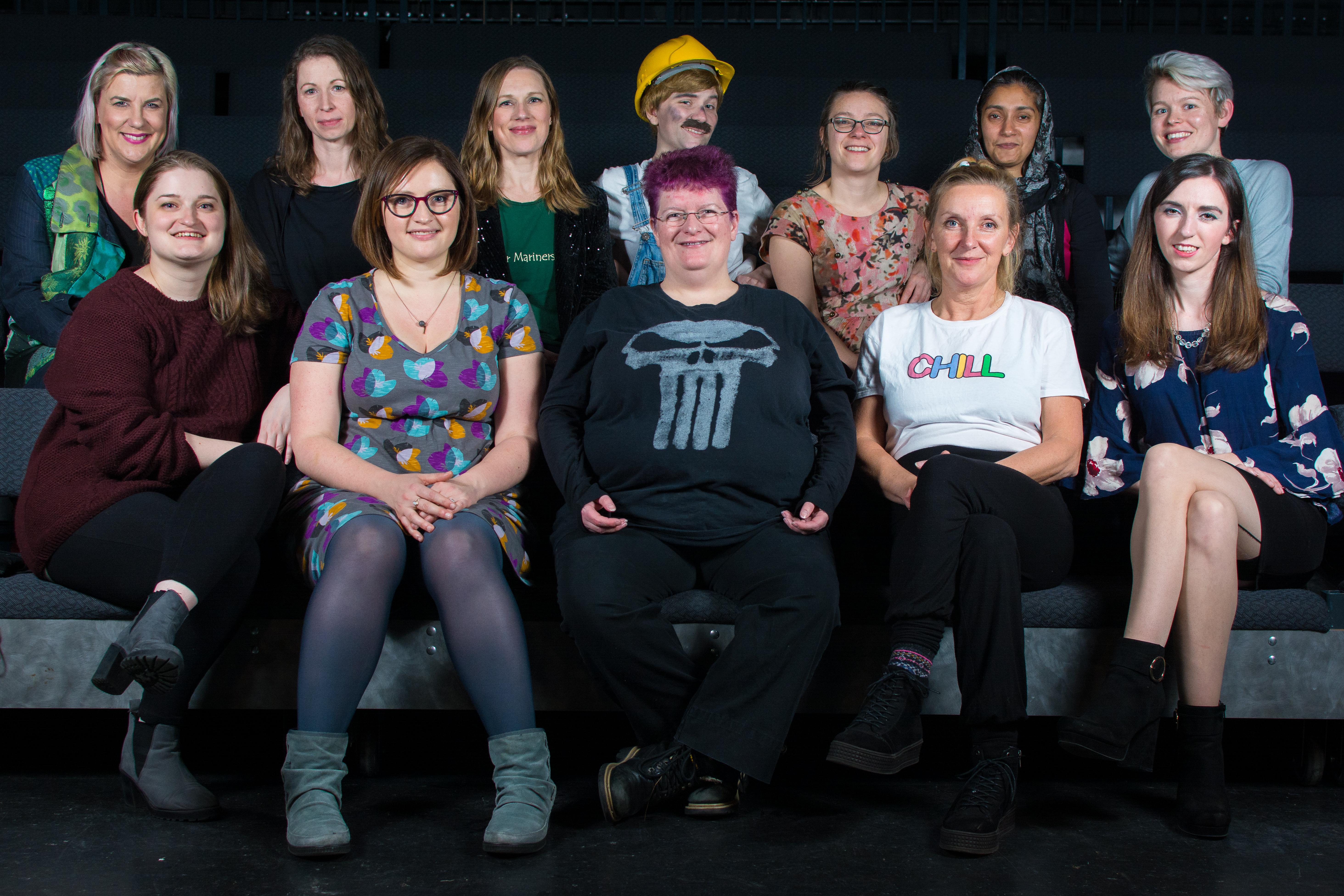 Women's Comedy Workshop participants